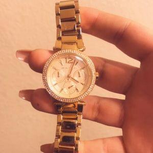Accessories - Women's MK Parker Gold watch